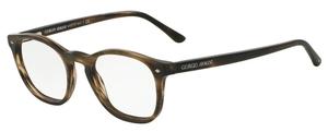 Giorgio Armani AR7074 Striped Matte Dark Brown