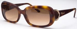 Chopard SCH088S Tortoise/Swarovski with Brown Gradient Lenses