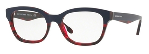 Burberry BE2257 TOP BLUE ON RED HAVANA
