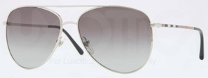 Burberry BE3072 Silver with Grey Gradient Lenses