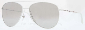 Burberry BE3072 White with Grey Mirror Silver Lenses