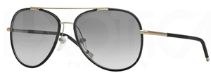 Burberry BE3078J Light Gold/Matte Black w/ Grey Gradient Lenses