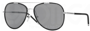 Burberry BE3078J Silver/Matte Black w/ Grey Lenses