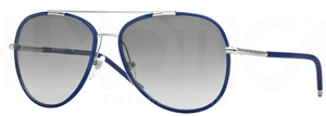 Burberry BE3078J Silver/Matte Blue w/ Grey Gradient Lenses