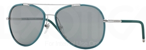 Burberry BE3078J Silver/Matte Green w/ Grey Lenses