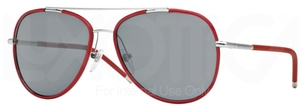 Burberry BE3078J Silver/Matte Red w/ Grey Lenses