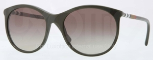 Burberry BE4145 Dark Green with Green Gradient Lenses