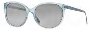 Burberry BE4146 Azure w/ Light Grey Mirror Grad. Silver Lenses