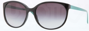Burberry BE4146 Black w/ Gray Gradient Lenses c. 33988G GREEN TEMPLE