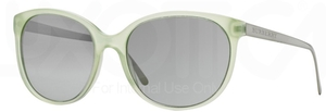 Burberry BE4146 Green w/ Light Grey Mirror Grad. Silver Lenses