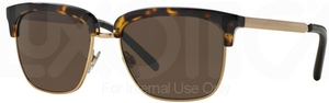Burberry BE4154Q Dark Havana/Gold w/ Brown Lenses