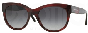 Burberry BE4156 Red Havana w/ Grey Gradient Lenses