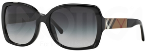 Burberry BE4160 Black w/ Gray Gradient Lenses-BURBERRY TEMPLES