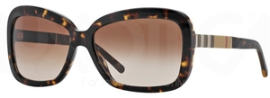 Burberry BE4173 Dark Havana w/ Brown Gradient Lenses