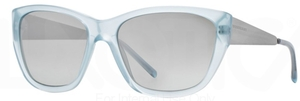 Burberry BE4174 Azure w/ Grey Mirror Silver Gradient Lenses