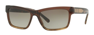 Burberry BE4225 Brown Gradient Striped
