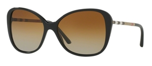 Burberry BE4235Q Black w/ POLAR Brown Gradient Lenses