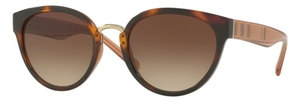 Burberry BE4249 Light Havana w/ Brown Gradient Lenses