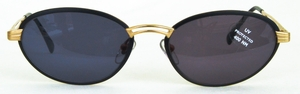 Revue Retro Beat Matte Black/Gold with Brown Lenses