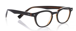 Eyebobs Bitty Witty Dark Green Outside / Orange Inside