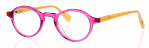 Eyebobs Board Stiff Reader Magenta Crystal Front with Orange Temples