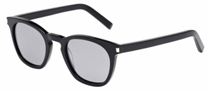 YSL Saint Laurent Bold 2 Black with Grey Mirror Lenses