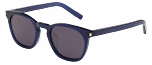 YSL Saint Laurent Bold 2 Crystal Blue with Grey Lenses