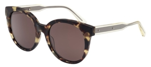 Bottega Veneta BV0002S Dark Tortoise with Brown Lenses