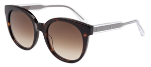 Bottega Veneta BV0002S Dark Tortoise/Clear with Brown Gradient Lenses