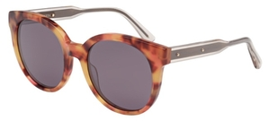 Bottega Veneta BV0002S Havana/Crystal with Polarized Violet Glass Lenses