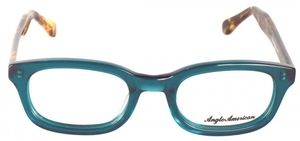 Anglo American Byker Opal Green with Amber Havana Temples OP22/AH