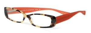 Eyebobs Co-Conspirator Tokyo Tortoise Front with Orange Rubberized Temples