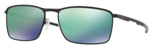 Oakley Conductor 6 OO4106 Matte Black with Jade Iridium Lenses  08