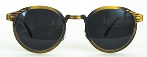 Revue Retro Court Antique Gold with Grey Lenses