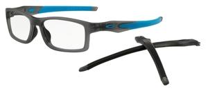 Oakley Crosslink (A) MNP OX8141 (Asian Fit) Satin Grey Smoke/Blue