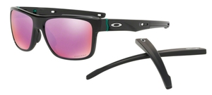 Oakley CROSSRANGE OO9361 04 Polished Black with Prizm Golf Lenses