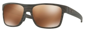 Oakley CROSSRANGE OO9361 07 Woodgrain with Prizm Tungsten Polarized Lenses
