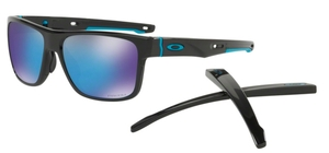 Oakley CROSSRANGE OO9361 13 Polished Black with Prizm Sapphire Lenses