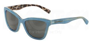 Dolce & Gabbana DG4237 Top Opal Azure/Leo w/ Grey Lenses  288387