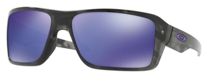 Oakley Double Edge OO9380 04 Matte Black Tortoise with Violet Iridium Lenses