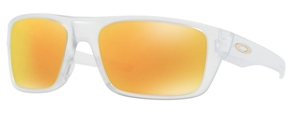 Oakley DROP POINT OO9367 05 Matte Clear with Fire Iridium Lenses