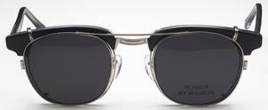 Shuron Ronsir CLIP ON Polarized Silver with Polarized Grey Lenses