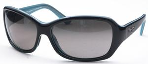 Maui Jim Pearl City 214 Black with Blue Interior