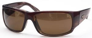 Maui Jim World Cup 266 Chocolate Strip Fade with Brown Polarized Lenses