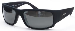 Maui Jim World Cup 266 Matte Black Rubber with Grey Polarized Lenses