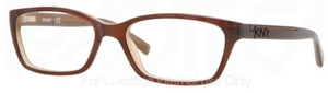 DKNY DY4630 TOP BROWN ON BEIGE