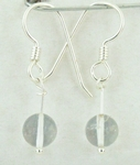 Casa Crystals & Jewelry Earings, Bead 7mm Clear Quartz