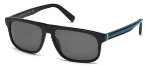 Ermenegildo Zegna EZ0003 Shiny Black with Blue Lenses