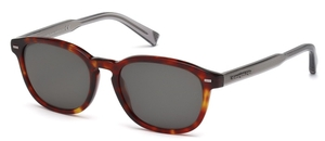Ermenegildo Zegna EZ0005 Red Havana with Polarized Smoke Lenses