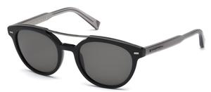 Ermenegildo Zegna EZ0006 Black with Polarized Smoke Lenses